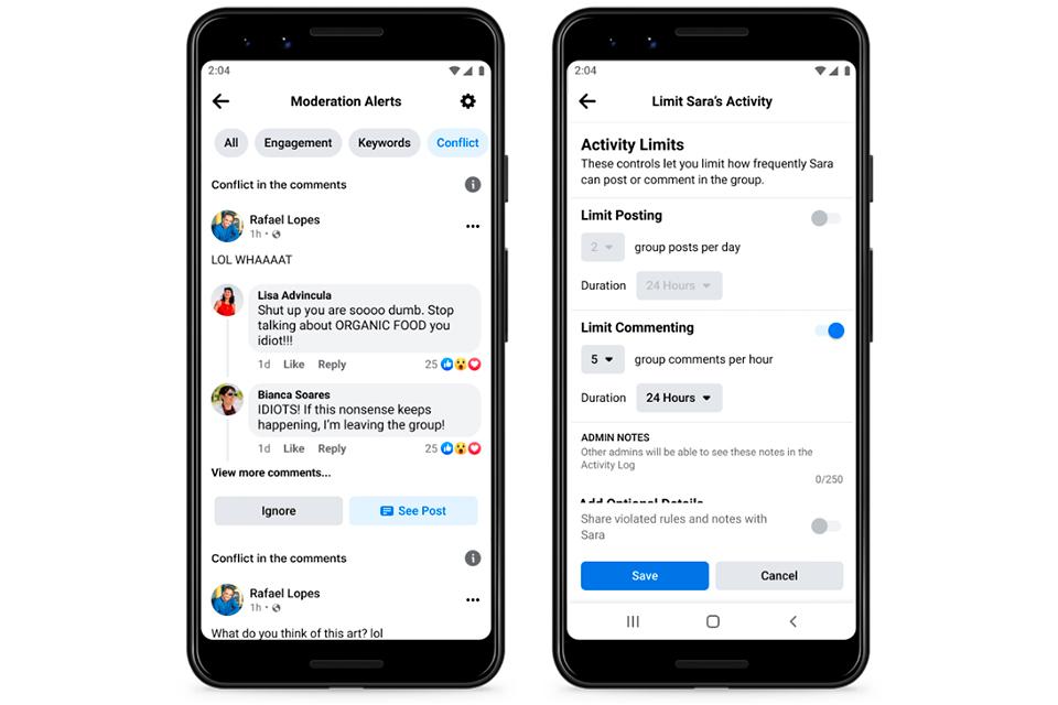 Facebook lança novas ferramentas para administradores de grupos