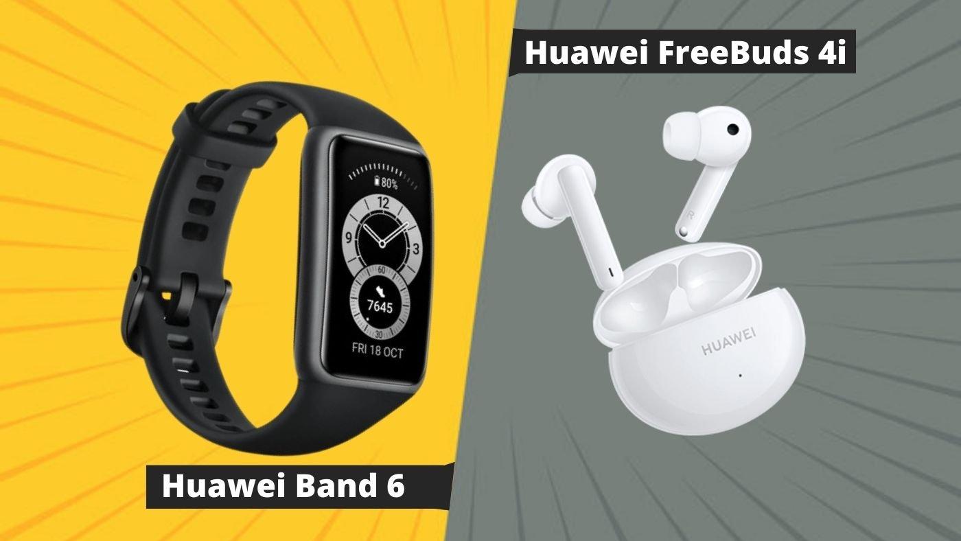 Huawei lança Band 6 e FreeBuds 4i no Brasil